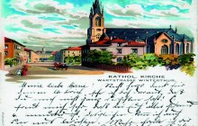 late 19th century: postcard with St. Peter and Paul parish
